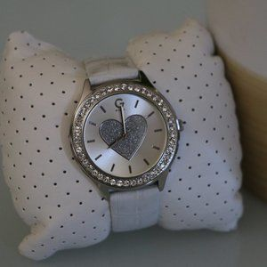 Guess Womens White Floral Watch
